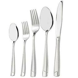Nicesh 60-piece Stainless Steel Flatware Set, Service for 12