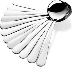 Stainless Steel Soup Spoons High Quality Round Bouillon Spoo