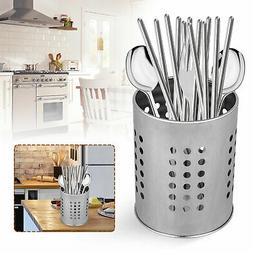 Stainless Steel Utensil Container Flatware Cylinder Caddy Ho