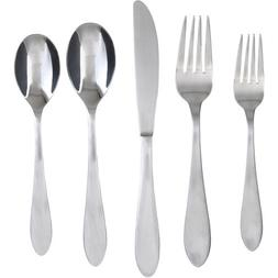 Cambridge Silversmiths Surge Satin 60-Piece Flatware Set wit