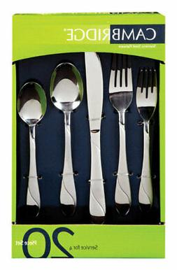 Cambridge® Swirl Sand 20-pc Flatware Set