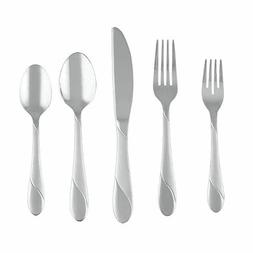 Cambridge Silversmiths Swirl Sand 20-Piece Flatware Set, Ser