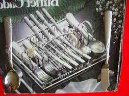 Cambridge® Tabitha Sand Swirl 44-pc. Flatware Set W/ tray f