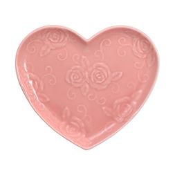 Pfaltzgraff Tea Rose Pink Heart Shaped Plate