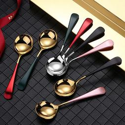 Teaspoon Spoons Tea  Lightweight Stainless Steel Flatware Di