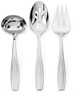 Gorham Tulip Frosted 3-Piece Hostess Set