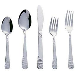 Bon Twist 20-Piece Stainless Steel Flatware Silverware Cutle