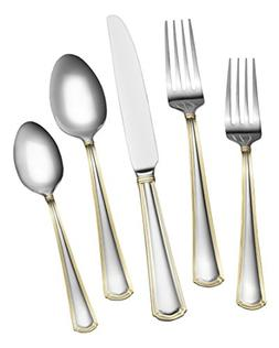 Gourmet Basics by Mikasa 5189120 Universal Gold 20-Piece Sta
