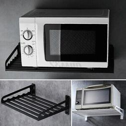 US Microwave Oven Rack Wall Mounted Shelf Home Kitchen Organ