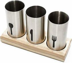 UTENSIL HOLDER Stainless Steel Cutlery Caddy Flatware Kitche