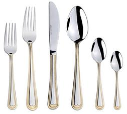 "Venezia Collection ""Beads"" 75-Piece Fine Flatware Set, Silve"