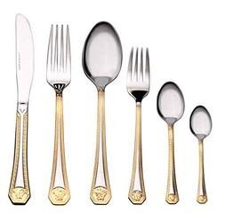 Venezia Collection 'Greek' 75-Piece Fine Flatware Set, Silve