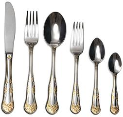 "Venezia Collection ""Siena"" 75-Piece Fine Flatware Set, Silve"