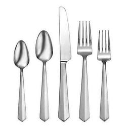 Oneida Vertica 65 Piece Fine Flatware Set, 18/10 Stainless,