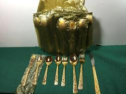 VINTAGE 50 PCS. ART NO. GFW-50 GOLD PLATED TABLEWARE SET JAP