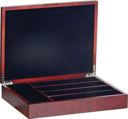 "Wooden Flatware 5 Compartments Storage Chest 14.37"" x 11"" x"