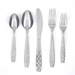 Cambridge Silversmiths Zevon Sand 20-Piece Flatware Set